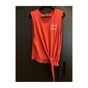 "Junk Food Disney ""Good Times"" Muscle Tank Red XL"